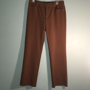 Rafaella Petite camel colored pants.